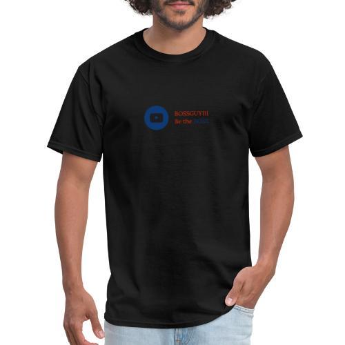 boss logo with red text - Men's T-Shirt