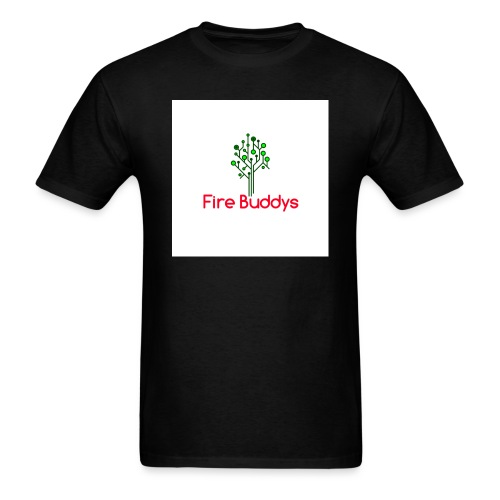 Fire Buddys Website Logo White Tee-shirt eco - Men's T-Shirt