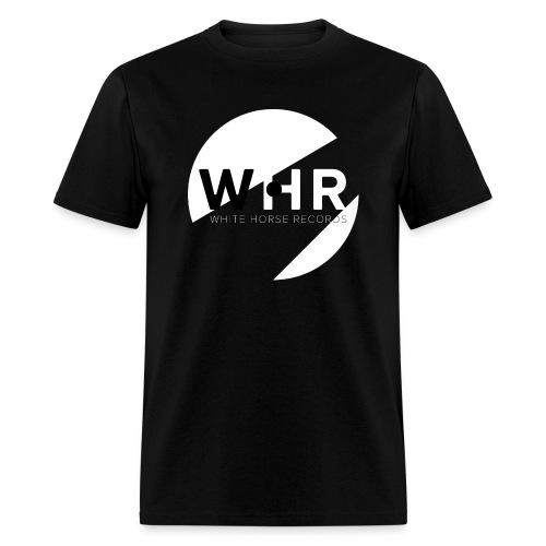 White Horse Records Logo - Black - Men's T-Shirt