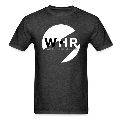 White Horse Records Logo - Black - Men's T-Shirt