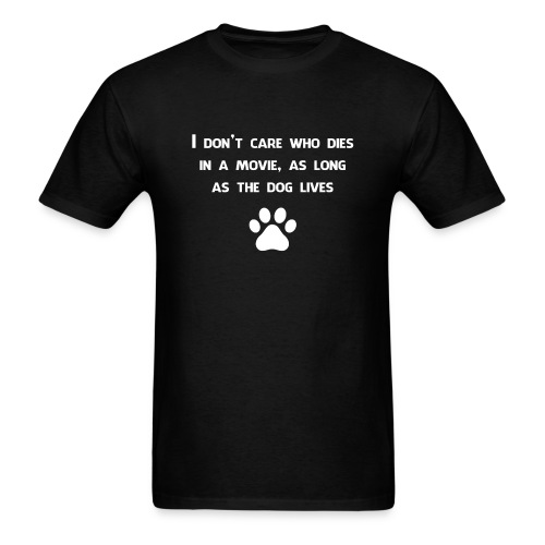 Dog lives in a movie - Men's T-Shirt