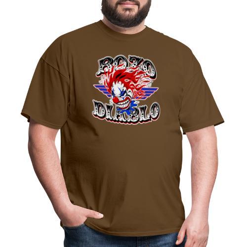 Bozo Diablo Crazy Clown Illustration - Men's T-Shirt