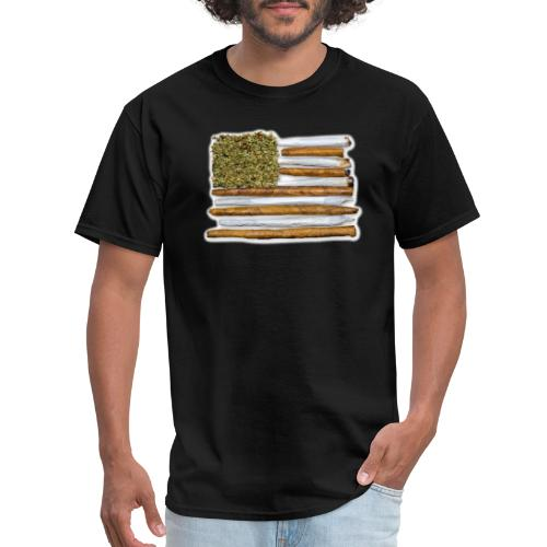 American Flag With Joint - Men's T-Shirt
