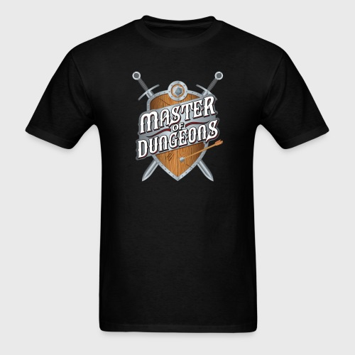 master of dungeons shield and swords fantasy gift - Men's T-Shirt