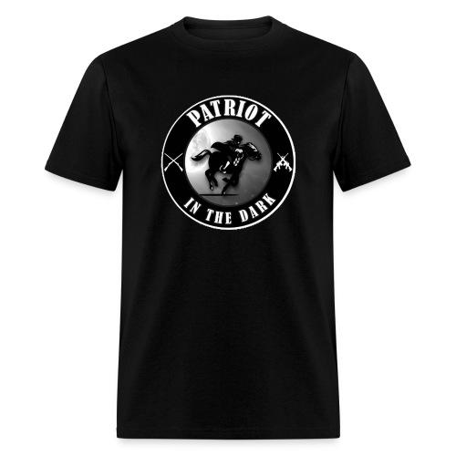 Patriot In The Dark Channel G2 Dark Logo - Men's T-Shirt