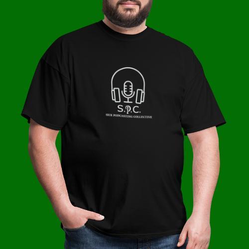 SPC Logo White - Men's T-Shirt