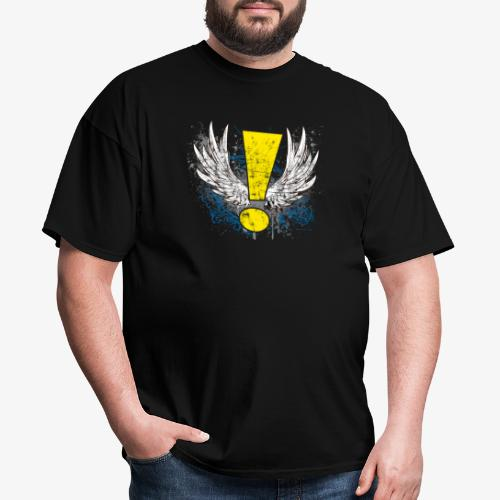 Winged Whee! Exclamation Point - Men's T-Shirt