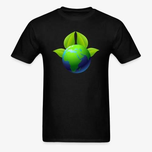 Earth with Leaves - Save the planet - Men's T-Shirt