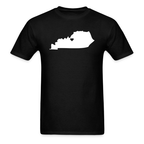 Kentucky Silhouette Heart - Men's T-Shirt
