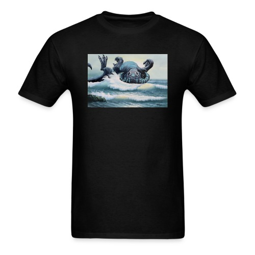 A North Atlantic Hydrobeest Frolics In The Waves - Men's T-Shirt