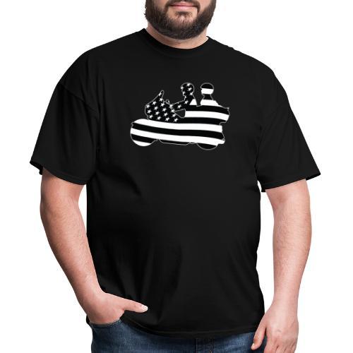 Patriotic American Flag Touring Motorcycle - Men's T-Shirt
