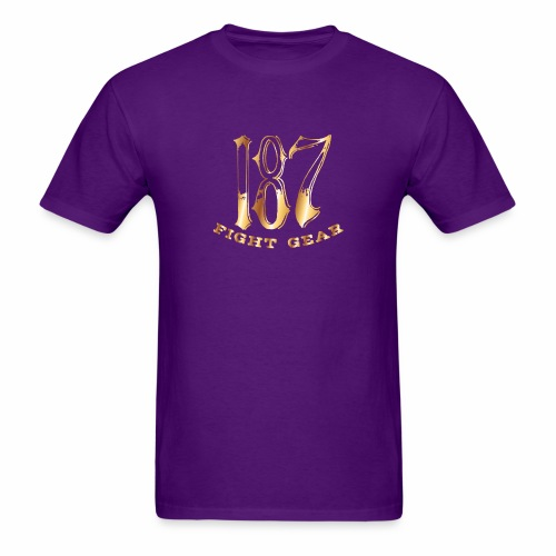 187 Fight Gear Gold Logo Sports Gear - Men's T-Shirt