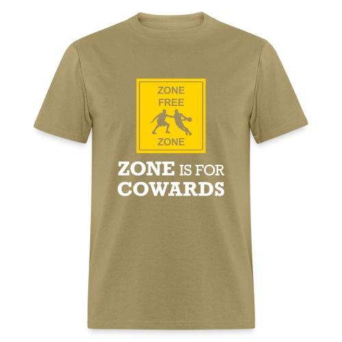 zoneisforcowards2color - Men's T-Shirt