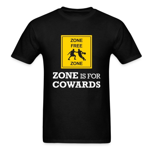 zoneisforcowards2color - Men's T-Shirt