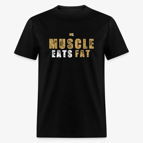 Muscle Eats Fat Tank Top (Saints Gold) - Men's T-Shirt