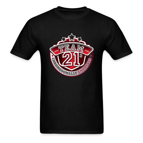 Team 21 - Chromosomally Enhanced (Red) - Men's T-Shirt