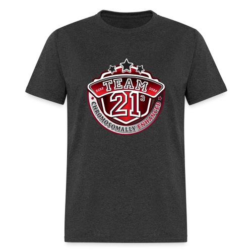 Team 21 - Chromosomally Enhanced (Red) - Men's T-Shirt
