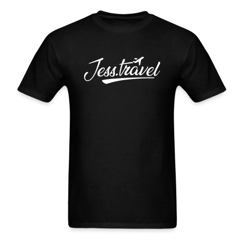 Jess Travel Logo White - Men's T-Shirt