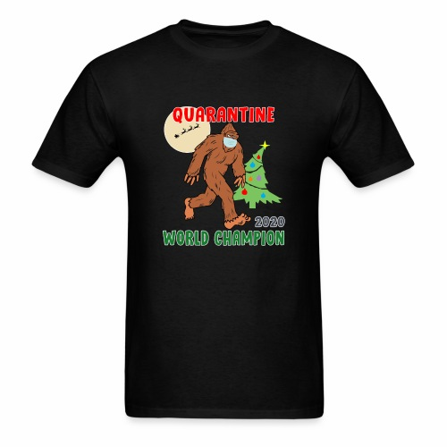 Quarantine World Champion Sasquatch Mask Christmas - Men's T-Shirt
