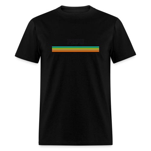 striped mug black logo png - Men's T-Shirt