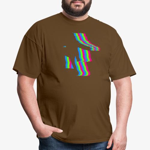 silhouette rainbow cut 1 - Men's T-Shirt