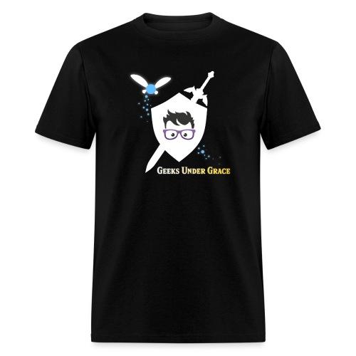 Sword and Shield Logo - Men's T-Shirt