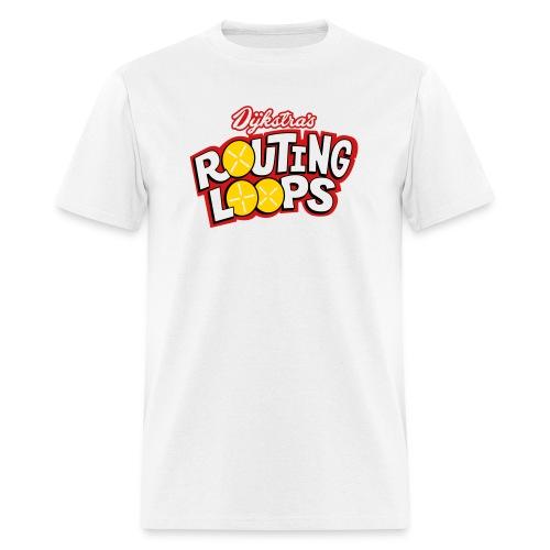 routingloops_lightbg - Men's T-Shirt
