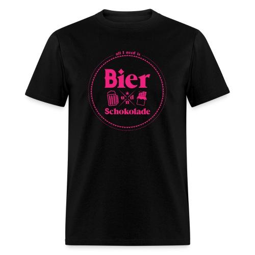 Bier Und Schokolade (Beer and Chocolate) - Men's T-Shirt