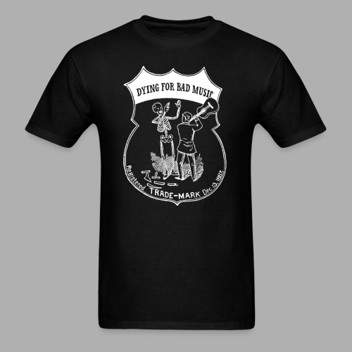 Dying For Bad Music Logo inverted - Men's T-Shirt