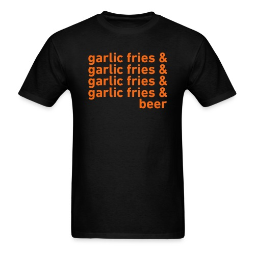 Garlic Fries & Beer (SF Giants) - Men's T-Shirt