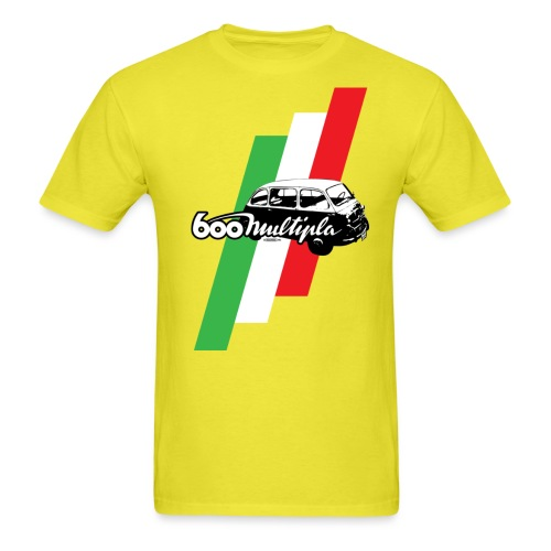 Fiat 600 Multipla script and illustration - - Men's T-Shirt