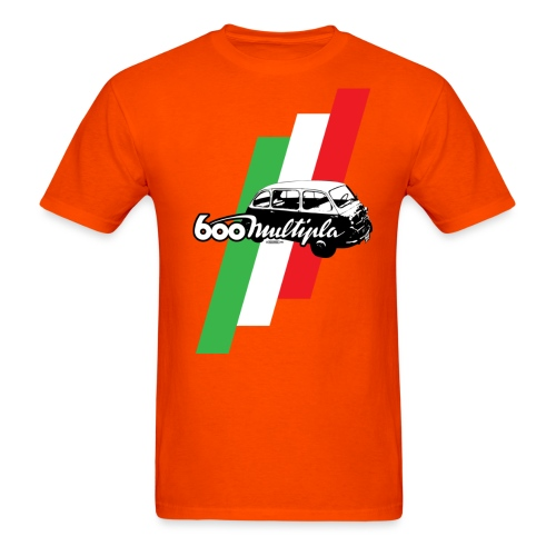 Fiat 600 Multipla script and illustration - - Men's T-Shirt