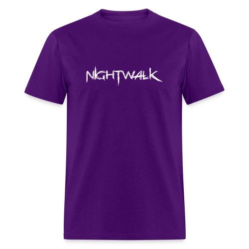 Nightwalk Logo White - Men's T-Shirt