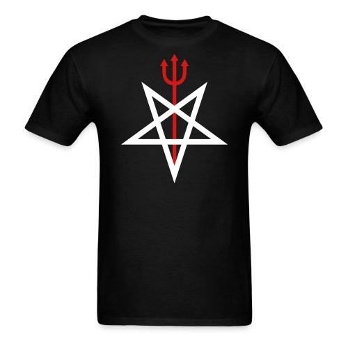 Pitchfork Pentagram - Men's T-Shirt
