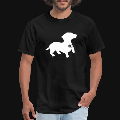Dachshund silhouette white - Men's T-Shirt