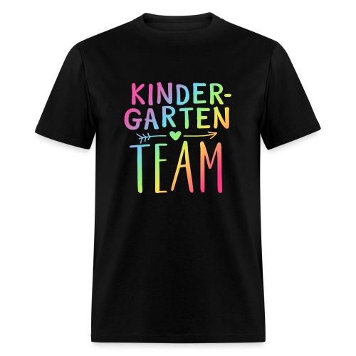 Kindergarten Team Neon Rainbow Teacher T-Shirts - Men's T-Shirt