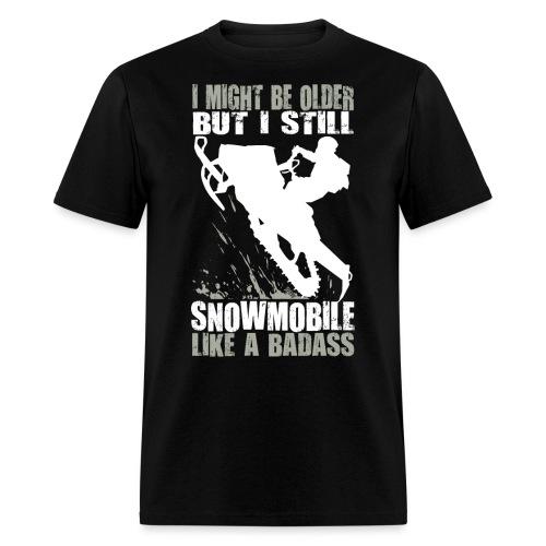 Snowmobiling Old Guy - Men's T-Shirt