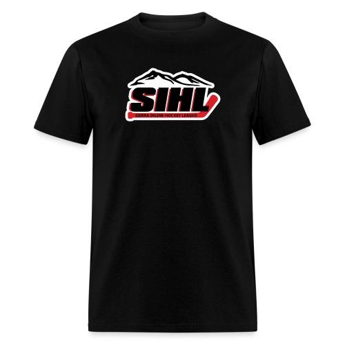 SIHL Logo White Outlined - Men's T-Shirt