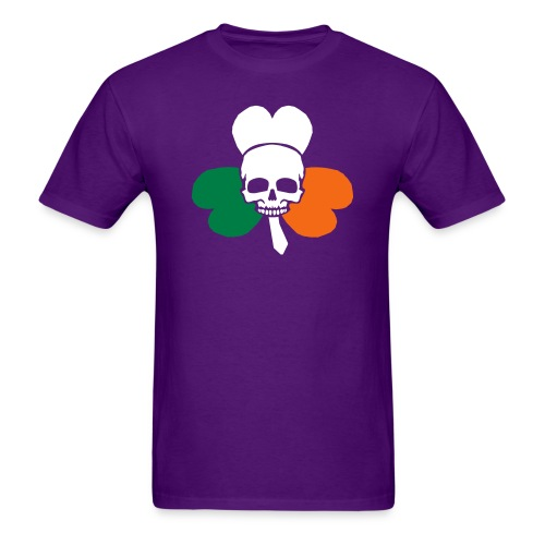 irish_skull_shamrock - Men's T-Shirt