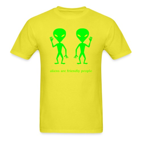aliens are friendly people - Men's T-Shirt