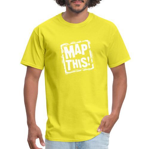 MapThis! White Stamp Logo - Men's T-Shirt