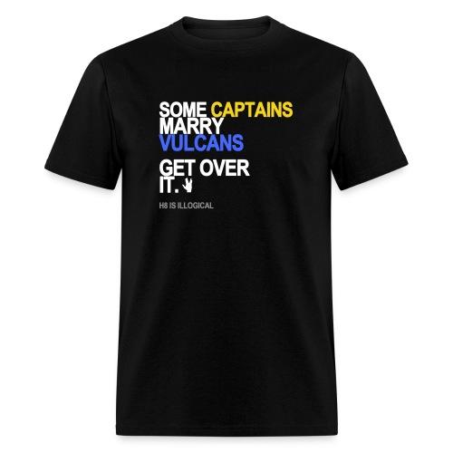 some captains marry vulcans black shirt - Men's T-Shirt