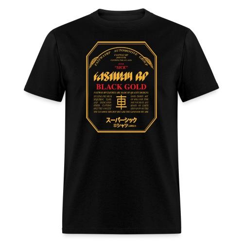 Fastway Beer Can Black Gold - Men's T-Shirt
