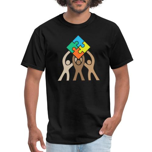 Teamwork and Unity Jigsaw Puzzle Logo - Men's T-Shirt