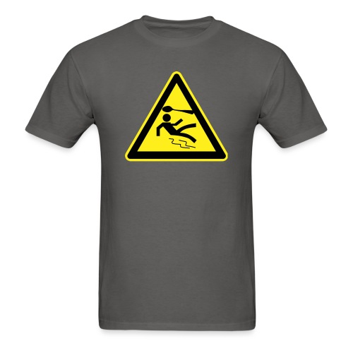 spoon warning sign - Men's T-Shirt
