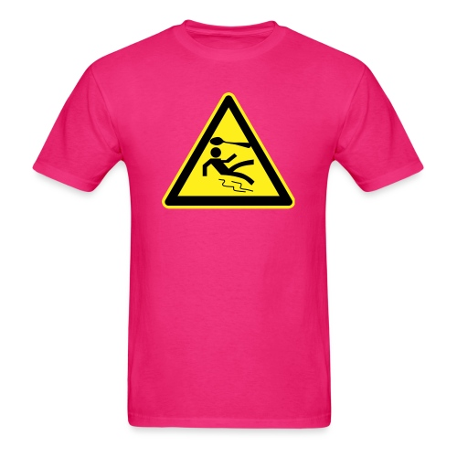 spoon warning sign - Men's T-Shirt