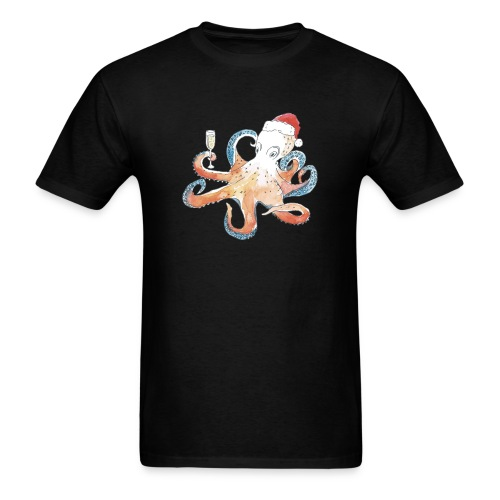 Christmas cephalopod - Men's T-Shirt