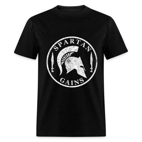 Spartan Gains Logo fuer schwarzes Shirt png - Men's T-Shirt