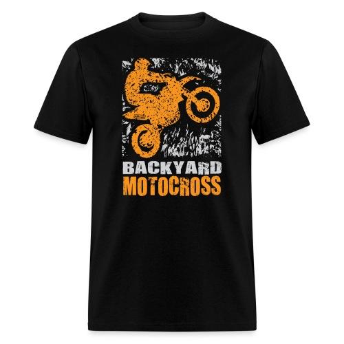 Motocross Backyard Orange - Men's T-Shirt