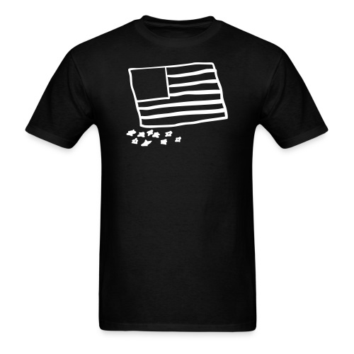 whiteonblackflag - Men's T-Shirt